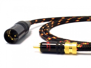 Cable set Interlink ST RCA-XLR M 0,75m